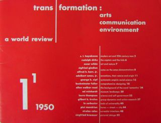 Trans / Formation: Arts Communication Environment 1; A World Review. Le Corbusier Ad Reinhardt,...