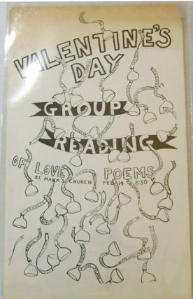 Valentine's Day Group Reading of Love Poems (Poster / Flyer). George Poetry Flyer - Schneeman,...