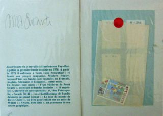 Les Timbres (Signed). Joost Artist Multiple - Swarte