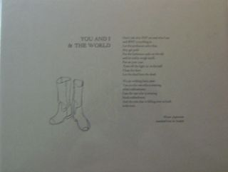 You and I & The World (Broadside Poem). Werner Aspenstrom