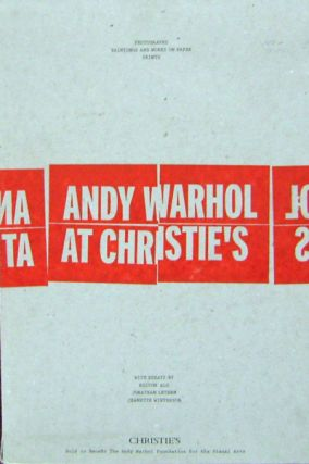 Andy Warhol at Christie's (Three Volumes - Photographs, Paintings & Works on Paper, & Prints)....