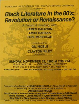 Black Literature in the 80's: Revolution or Renaissance? A Forum & Reading [Flyer / Poster]....