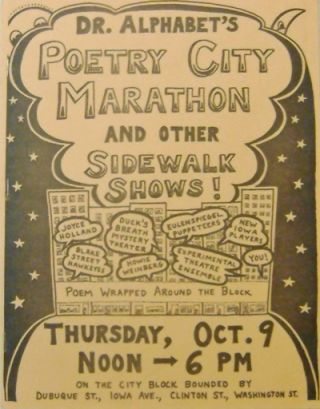Dr. Alphabet's Poetry City Marathon and Other Sidewalk Shows! Dr. Alphabet, Dave Morice