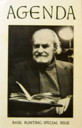 Agenda Volume 16 Number 1. William Cookson, Robert Creeley Basil Bunting, Michael Hamburger