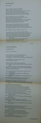 Macaroni and In Memoriam (Broadside). Frank O'Hara, Patsy Southgate.