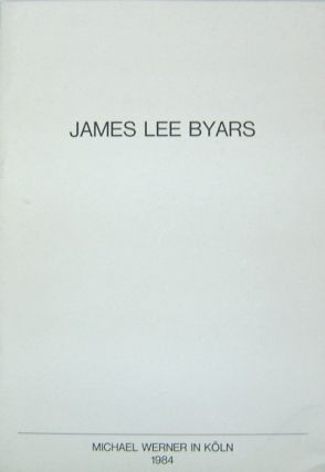 James Lee Byars. Art, James Lee ars
