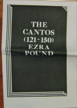 Unmuzzled Ox 23; The Cantos (121 - 150) Ezra Pound. Michael Andre, Jackson Mac Low John Cage,...