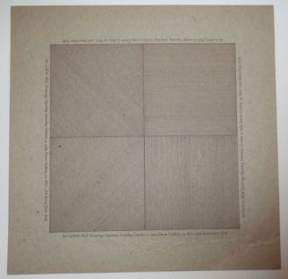 Sol Lewitt - Wall Drawings (Dwan Gallery Exhibition Announcement Card)