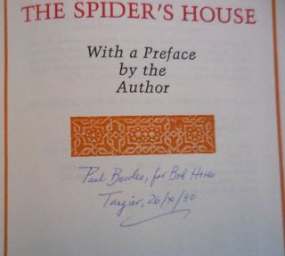 The Spider's House (Inscribed)