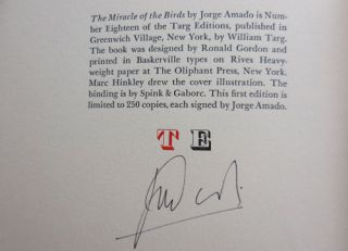 The Miracle of the Birds (Signed by Amado)