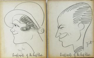 Ten Original Caricatures and Cartoons by Zito from the Surf Club