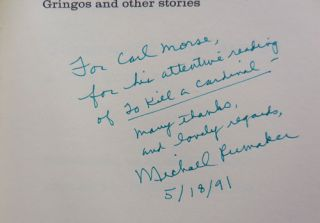 Gringos and Other Stories (Inscribed to Carl Morse)