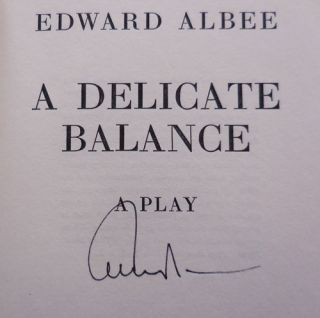 A Delicate Balance (Signed)