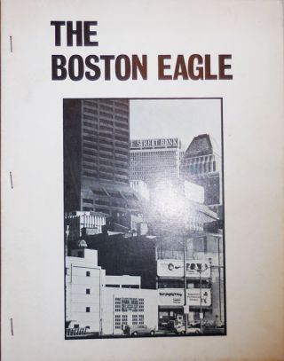 The Boston Eagle (At Home). William Corbett Lee Harwood, John Wieners, Lewis Warsh, William Corbett