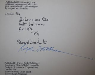 Two Poems Of Night (Signed by Lucie-Smith and Steadman)