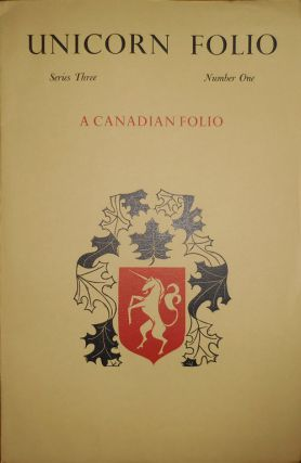 Unicorn Folio Series Three Number One A Canadian Folio (Poetry Broadsides). Alan Brilliant,...