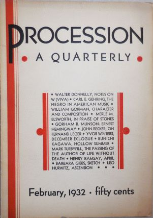 Procession A Quarterly Volume 1 Number 2. Harold Courlander, Peter, Ruthven, Derek Fox