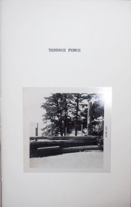 Terrace Fence (Signed). Bill Berkson