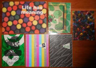 Collection of Six Artist Books including two versions of Life Has Meaning. Mark Artist Books - Pawson.
