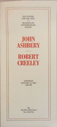 The American and Thinking (two DIA broadside poems). John Ashbery, Robert Creeley