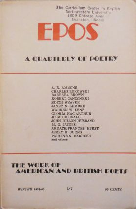 EPOS A Quarterly of Poetry Winter 1964 - 65. Will Tullos, Evelyn Thorne, Neeli Cherry A. R....