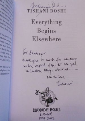 Everything Begins Elsewhere (Inscribed)