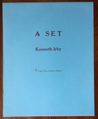 A Set (Poetry Broadside Suite). Kenneth Irby