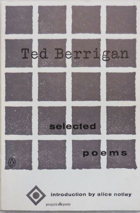 Selected Poems. Ted Berrigan, Alice Notley