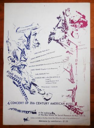 A Concert Of 20th Century American Music (Poster from 1964). Music Ephemera - John Cage / Earle...