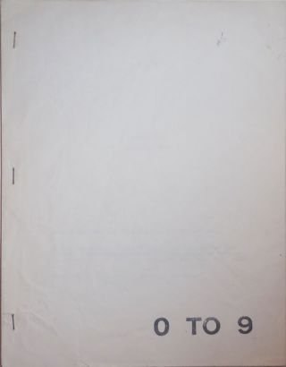 0 To 9 Number Five January 1969 (Magazine). Vito Hannibal Acconci, Bernadette Mayer, Sol Lewitt...