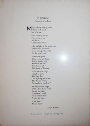 St Maedoc Fragment of an Ikon (Broadside Poem). Thomas Merton