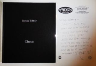 Circus (Inscribed Copy with Hand-printed Letter Signed). Rhona Photography - Bitner, Jorge Ribalta