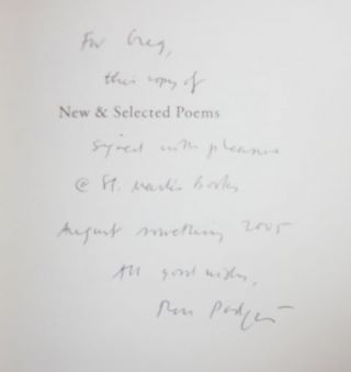 New & Selected Poems (Inscribed)