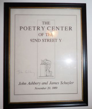 Poetry Reading Flyer November 20, 1989 (Signed by Ashbery and Schuyler). John Ashbery, James Schuyler.