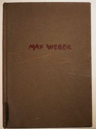 Max Weber (Inscribed by Weber). Holger Art - Cahill, Max Weber