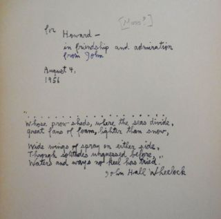 Poems Old and New (Inscribed)