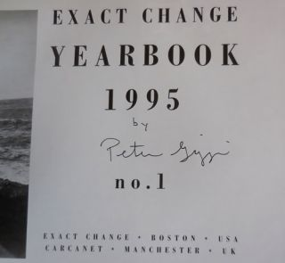 Exact Change Yearbook 1995 No. 1 (Signed)