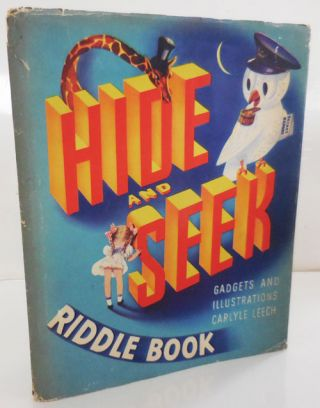 Hide and Seek Riddle Book. Carlyle Children's - Leech.