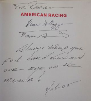 American Racing: Road Racing in the 50s and 60s (Inscribed by McCluggage and Burnside)
