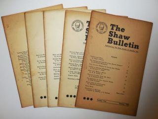 The Shaw Bulletin (Five Issues). William D. Chase, George Bernard Shaw