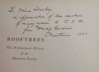 Rooftrees - or the Architectural History of an American Family (Inscribed)