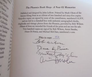 The Phoenix Book Shop; A Nest of Memories (Signed by Four Contributors)