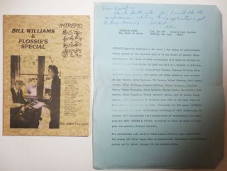 Bill Williams & Flossie's Special (Intrepid #39 - 41 Beau Fleuve #10) (With Inscribed Promotional...