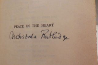 Peace In The Heart (Signed)