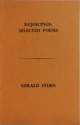 Rejoicings: Selected Poems (Inscribed). Gerald Stern
