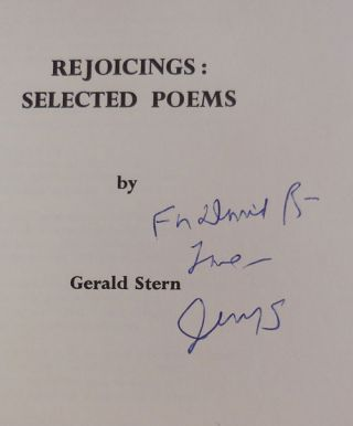 Rejoicings: Selected Poems (Inscribed)