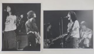 Two Original Black and White Concert Photographs (taken by David Arnoff). Patti Smith