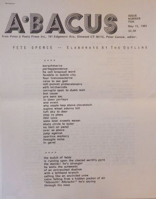 Abacus Issue Number Ten. Peter Ganick, Pete Spence