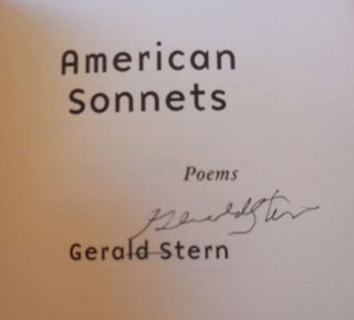 American Sonnets (Signed)