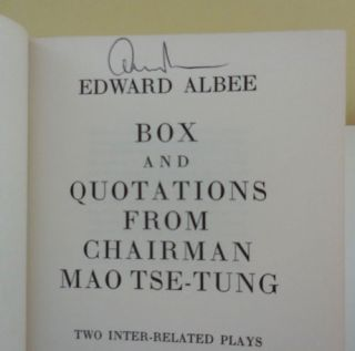 Box and Quotations From Chairman Mao Tse-Tung (Signed)